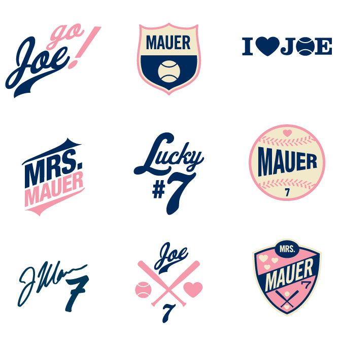 Logos for Mauer products at Target; by Crystal Barlow-Jensen
