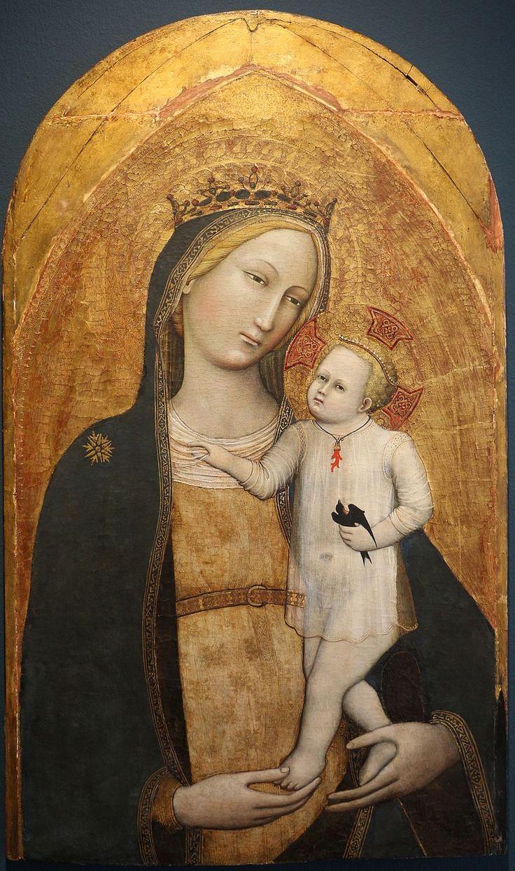 Maestro della Madonna Straus - Madonna col bambino - 1385-90 ca.- Bonnefanten Museum,  Maastricht, Netherlands