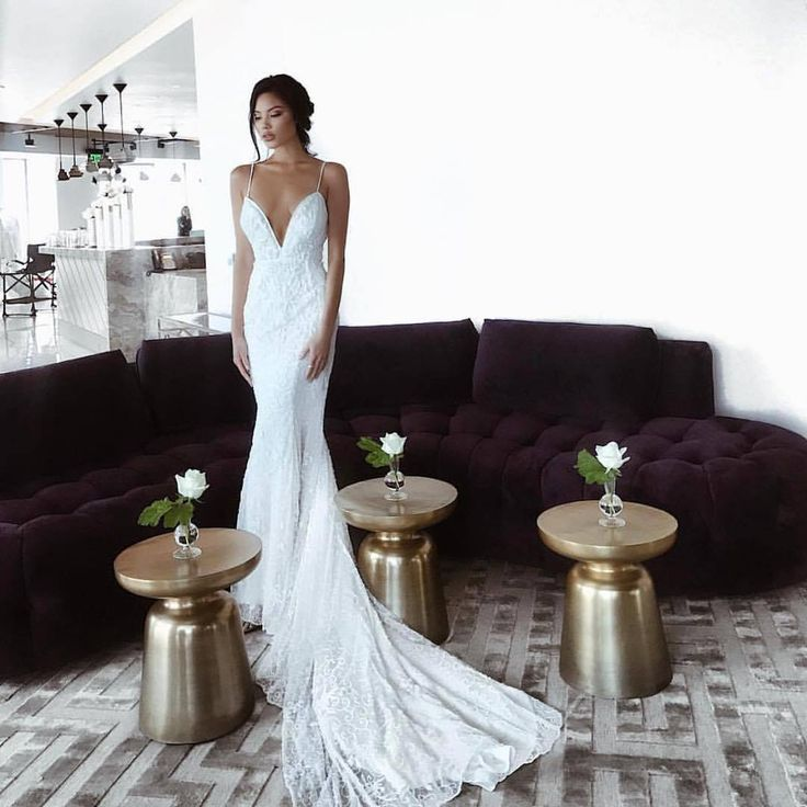 Trish Peng Calla Gown Custom beaded to your measurements