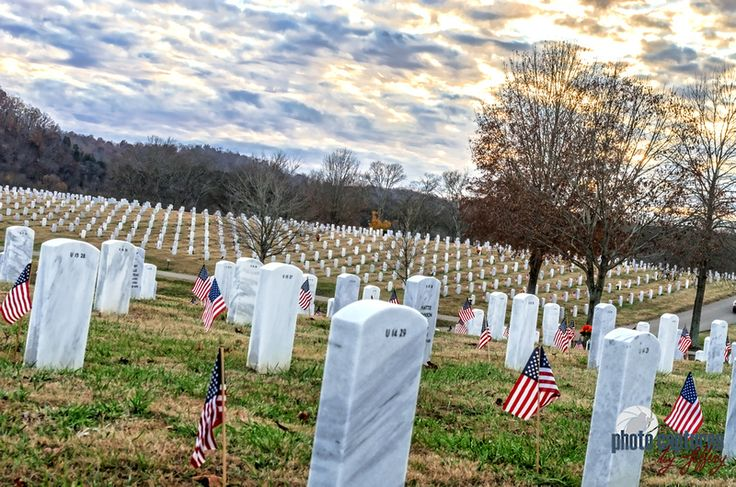 Middle Tennessee Veterans Cemetery Tombstones A 2013 Veterans Day sunset visit to Middle Tennessee Veterans Cemetery McCrory Ln Nashville TN.