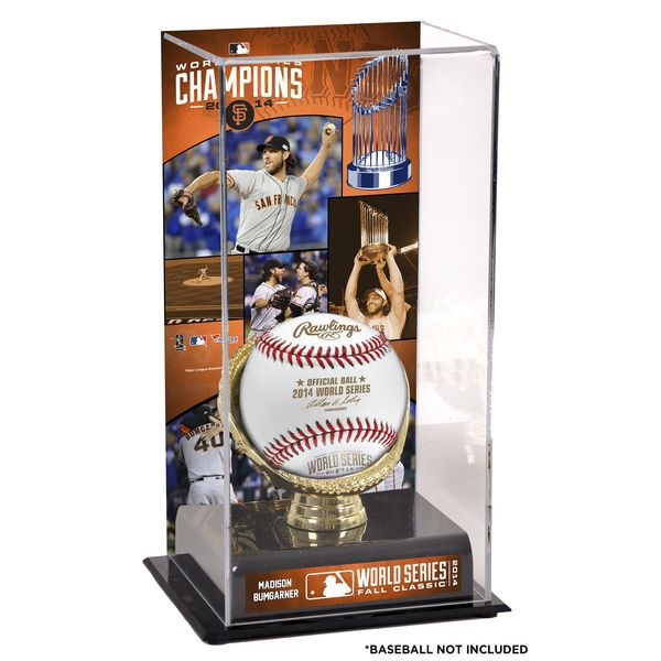 "Madison Bumgarner San Francisco Giants Fanatics Authentic 2014 World Series Champions 10"" x 5.5"" Gold Glove Baseball Display Case - $49.99"