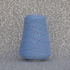 Mouline Yarn - Light Blue, White (Bicolor)