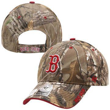 e4d0000bda20e9 Mens Boston Red Sox '47 Brand Realtree Camo Frost Adjustable Hat ...