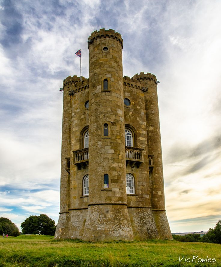 Striking Small Castle In The Cotswold Of England. Labeled