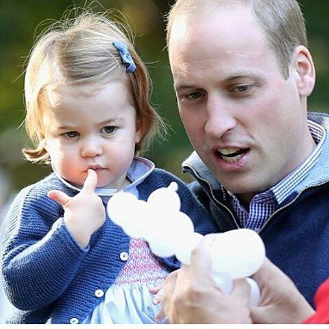 I had a read through some of the comments which were posted last night and a lot of you think Princess Charlotte looks like Queen Elizabeth whereas I think she's the double of her father Prince William👧