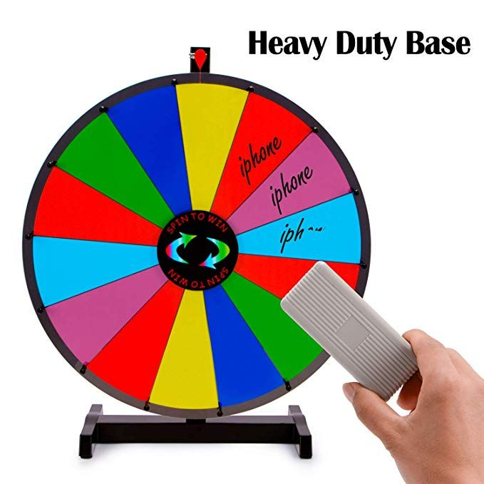 """24/"""" 14 Slots Color Prize Wheel Dry Erase Trade Show Fortune Spinning Game Party"""