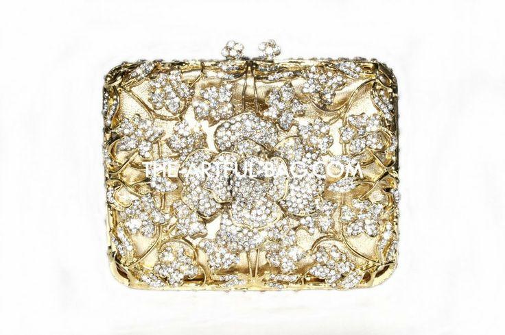 The-Artful-Bag.com - The Blossom Gold - Crystal Clutch Bag, £199.00 (http://www.the-artful-bag.com/the-blossom-gold-crystal-clutch-bag/)
