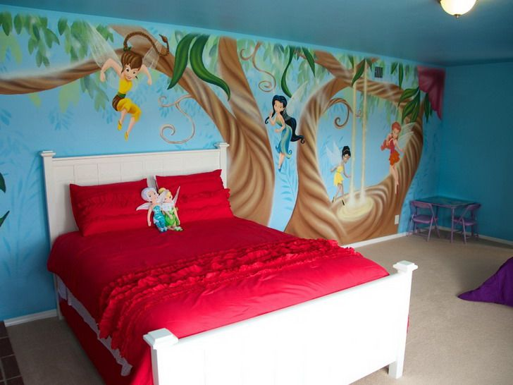 Girls Bedroom Area Fairy Wall Mural