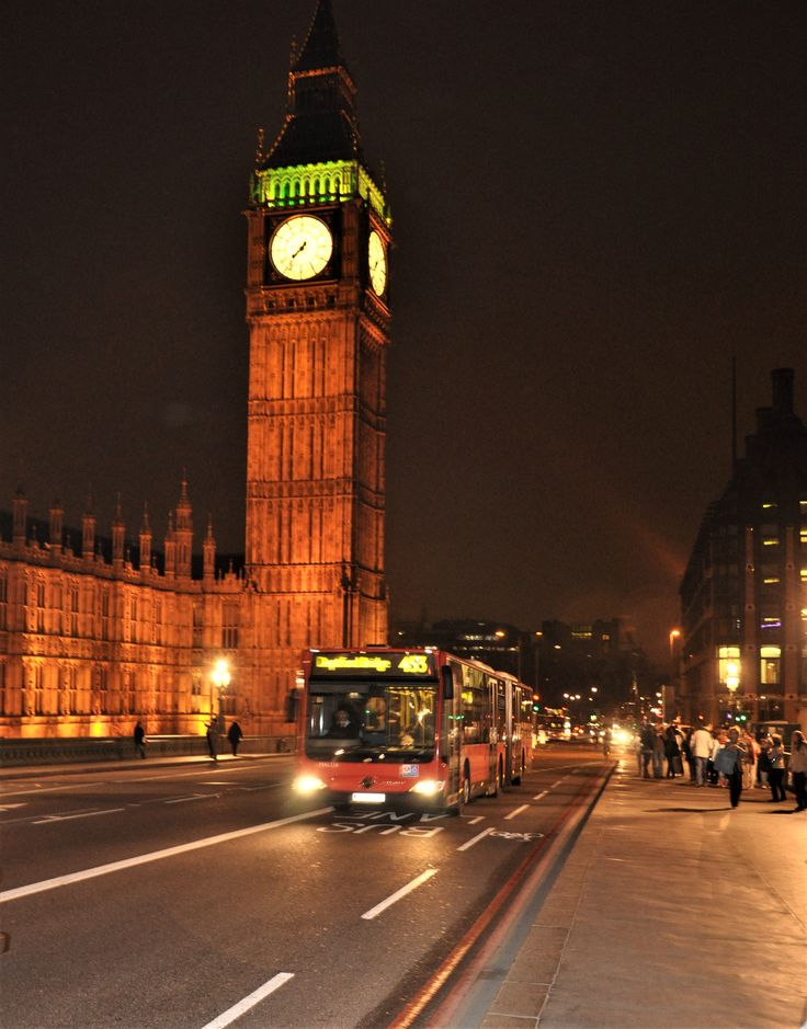 Big Ben , at night