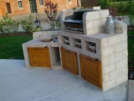 Barbecue (19) BARBECUE Pinterest Barbecues, Construction and - beton cellulaire exterieur barbecue