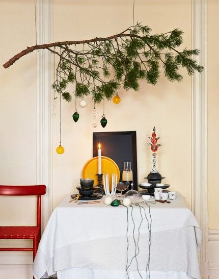 julpynt-jul-dukning-pynt-häng-en-gren-i-taket 2
