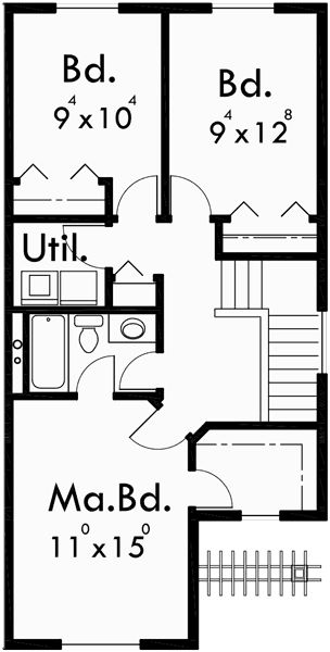 17 best ideas about duplex house on pinterest duplex for 40 ft wide house plans