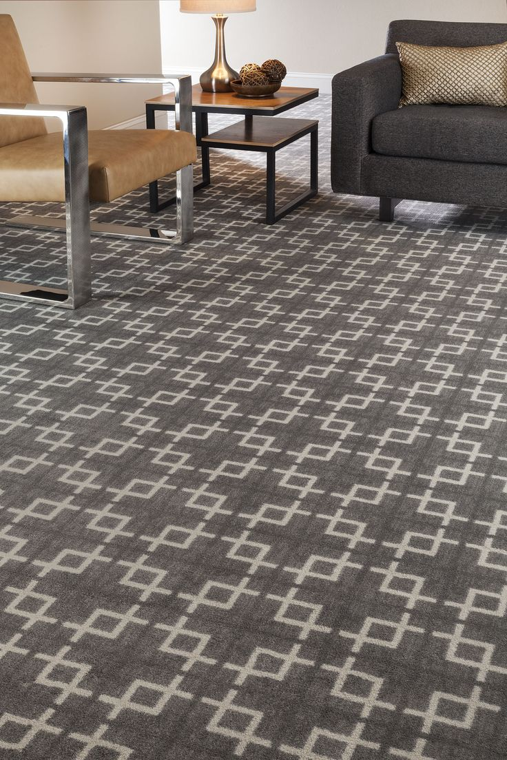 Geometric patterned carpet gray cream home office - Home design carpet rugs woodbridge on ...