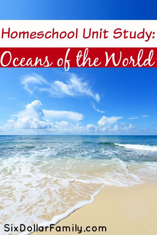 Planning a Homeschool Unit Study? Don't spend hours! Here you'll find our Oceans of the World Homeschool Unit Study all laid out and ready to go!