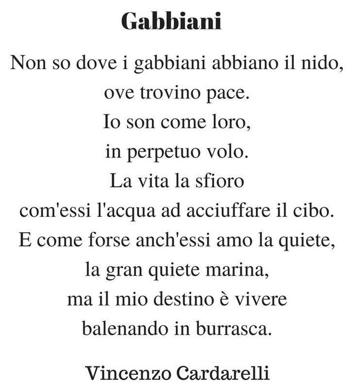 Gabbiani Vincenzo Cardarelli Destino