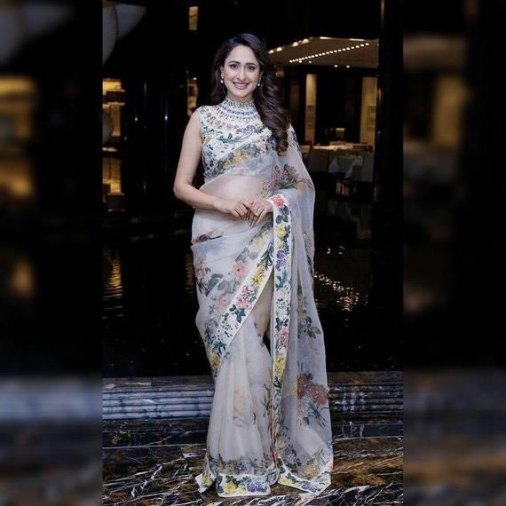 Bollywood Saree For Women Organza Saree with Stitched Blouse Women/'s Clothing