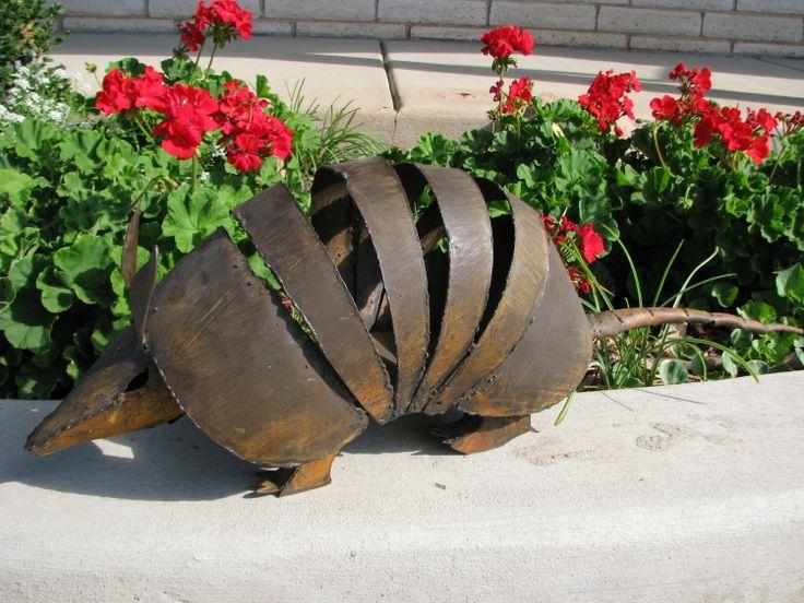 Metal armadillo Yard Art
