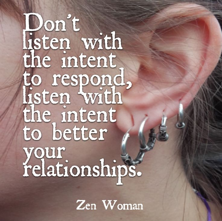 Listening is almost always done incorrectly, we forget its about communication, give and take and we spend the whole time either talking or thinking about what we can say next and not actually listening to the other person!