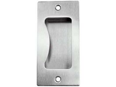Flush pull handle, stainless steel. 100x50x21mm