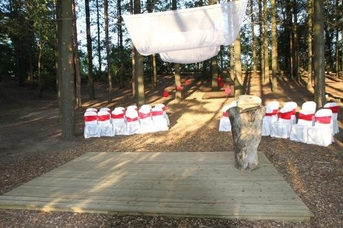 Chicopee Ski Hill's (Kitchener ON) outdoor ceremony options. So natural and pretty.