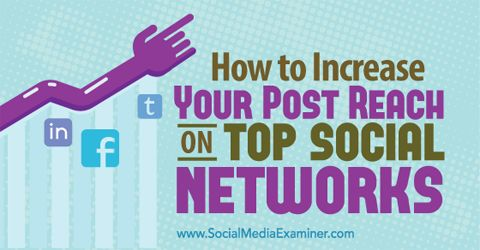 How to Increase Your Post Reach on Top Social Networks | Social Media Examiner