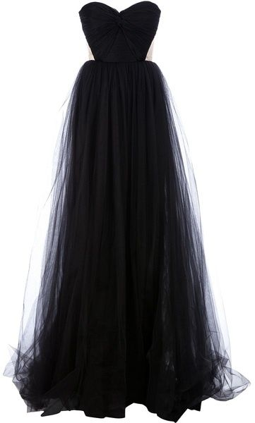 Black tulle sweetheart neckline dress; just a different color