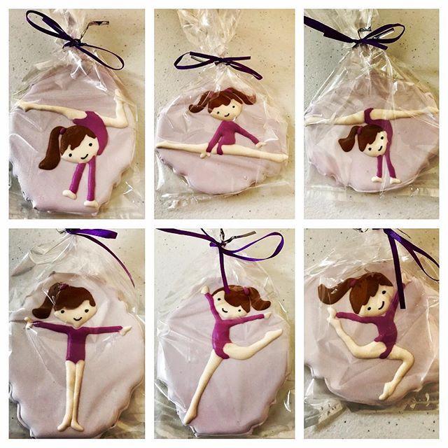 Tatum's 8th Birthday favors! Gymnastics! #gymnastics#cartwheel#balancebeam#tumbling#wgvgymnastics#gymnast#Sweets #Sugar #StAugFoodies#usa#delicious#decoratedcustomcookies#celebrationcookie #staugustine#jacksonville#cookieartist #cookieart#Ready4Delivery#Packaged#Shipping#OrderNow #CookieLove #Sweets#Sugar #StAugFoodies#usa#delicious
