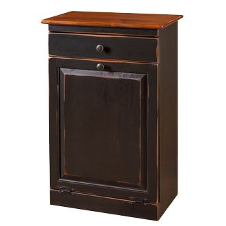 Raised Panel Trash Can with Drawer http://www.thecuttersedge.com/product-2001/Raised-Panel-Trash-Can-with-Drawer