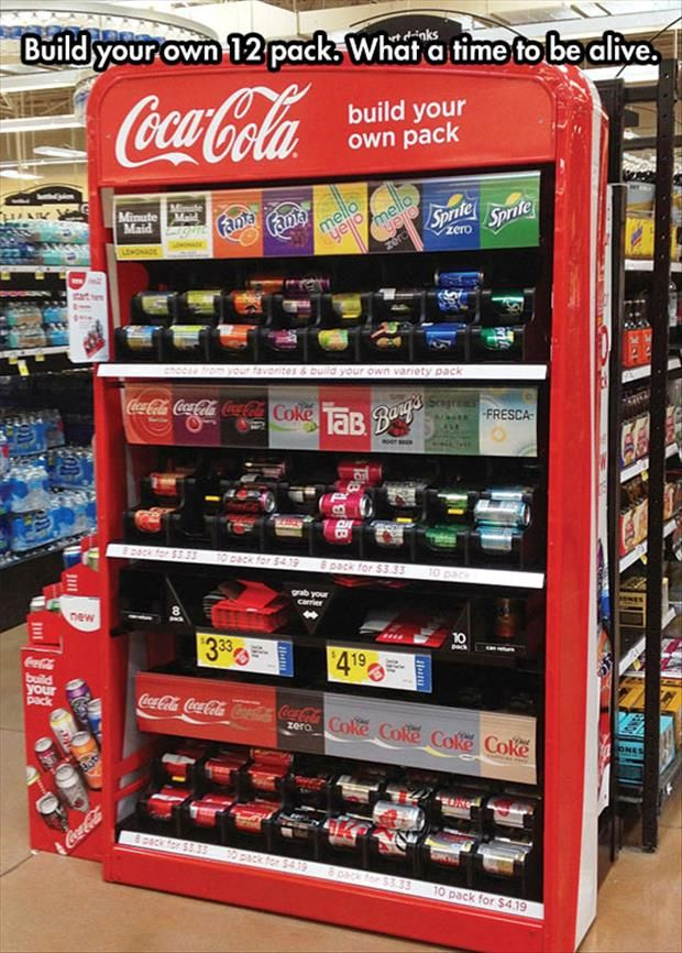 This would be cool- dont drink soda often, so this would be good to buy only what you want...