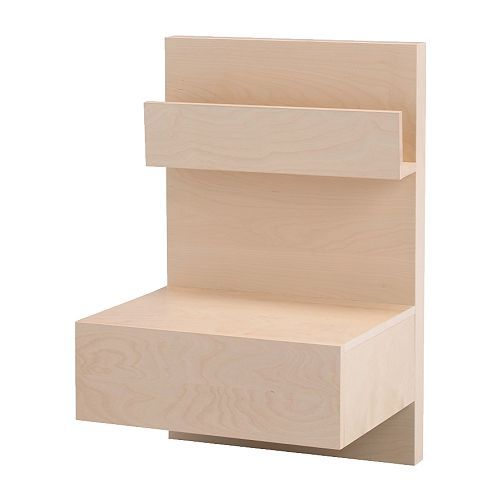 $49.99 MALM Nightstand IKEA Open shelf gives you easy access to books, etc. Smooth running drawer with pull-out stop.