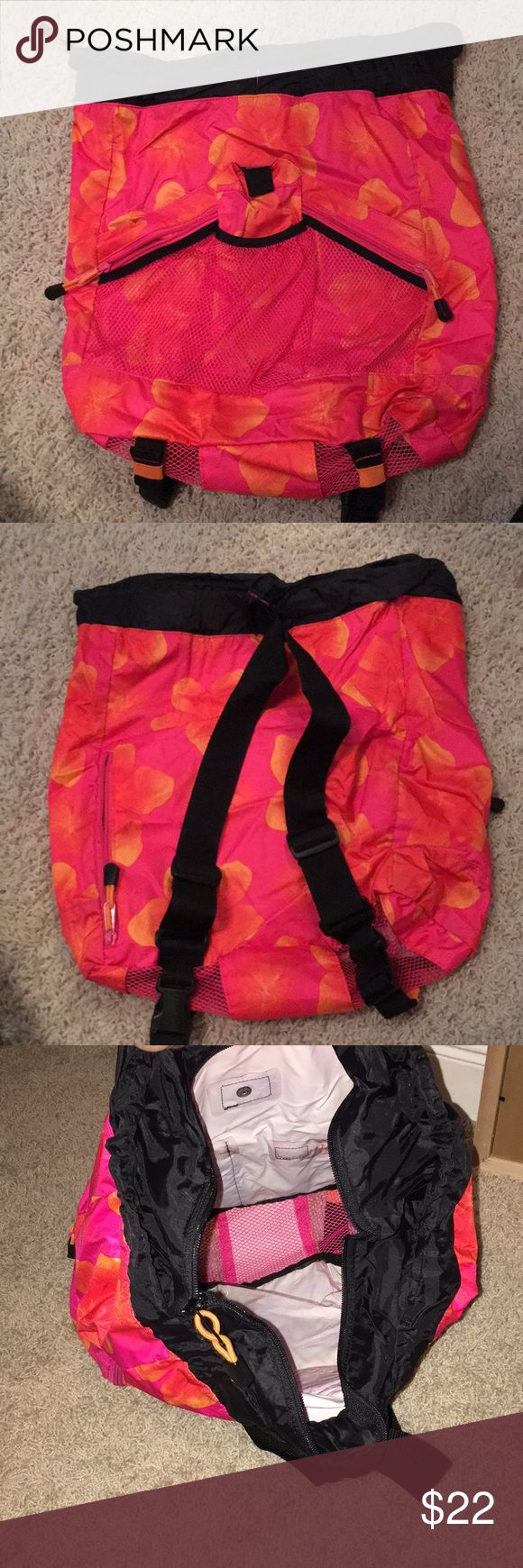 Perfect zipper backpack Perfect condition! Floral pattern. 15 inches tall, 16 inches wide, GAP Bags Backpacks