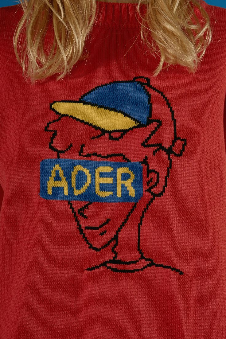 ADER boy knitwear red  #ader#fashion#brand#knitwear#stripe