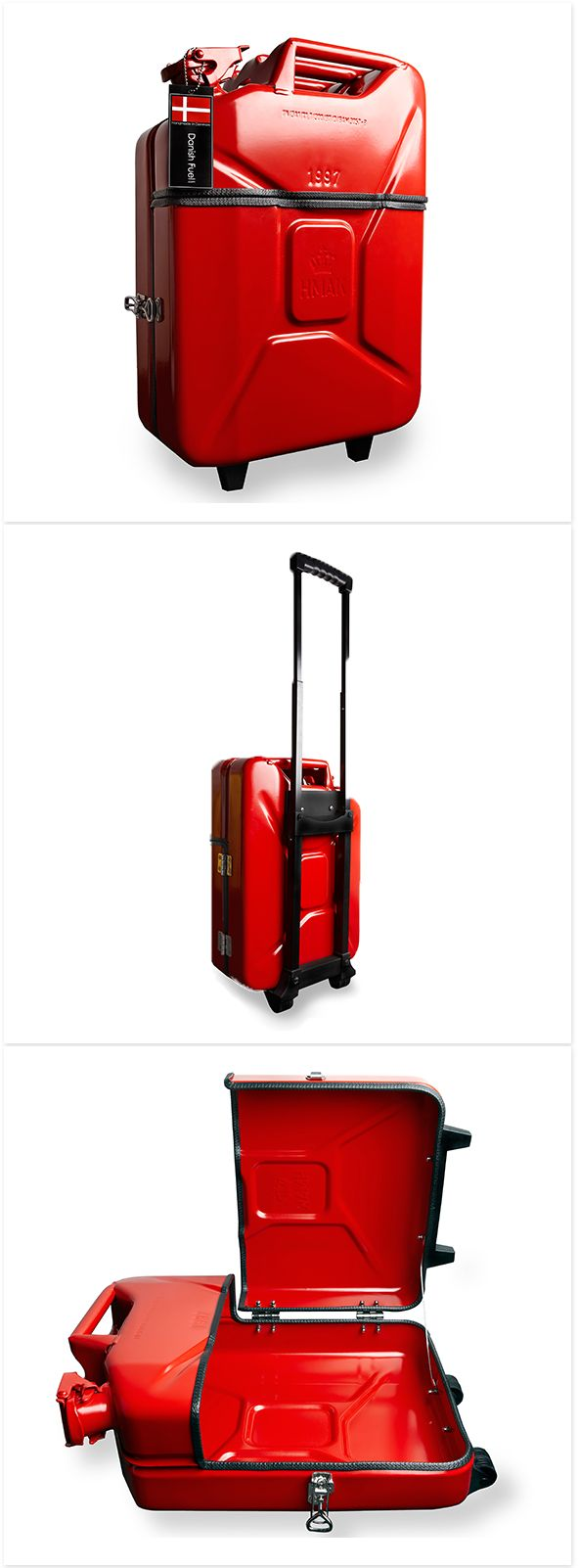 Trolley Case by Danish Fuel - Your most original way of travelling. Recycled Jerry cans!