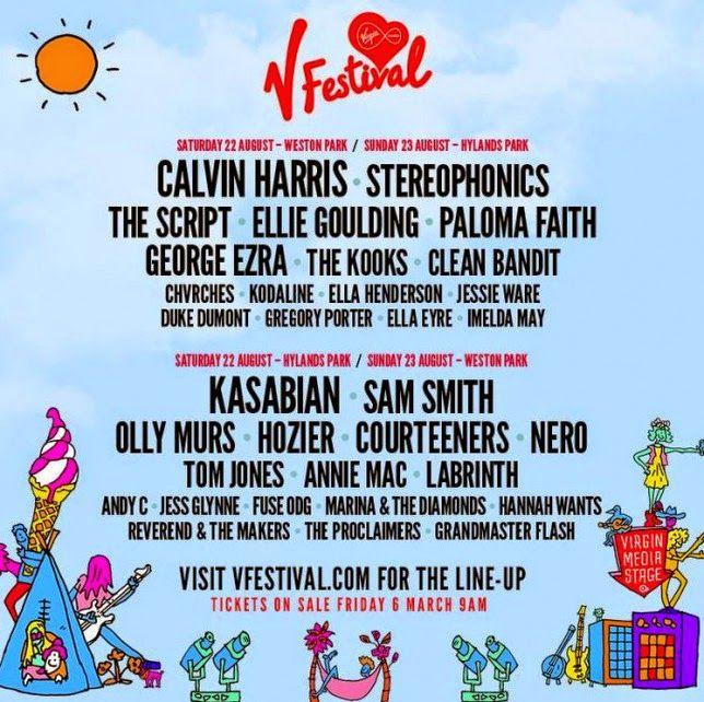 V Festival 2015 Line-up Announcement - Calvin Harris and Kasabian
