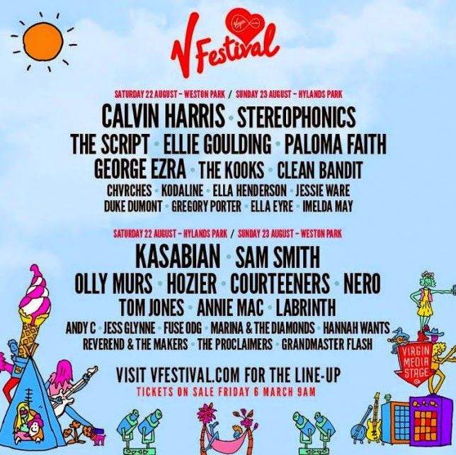 V Festival 2015 Line-up Announcement - Calvin Harris and Kasabian