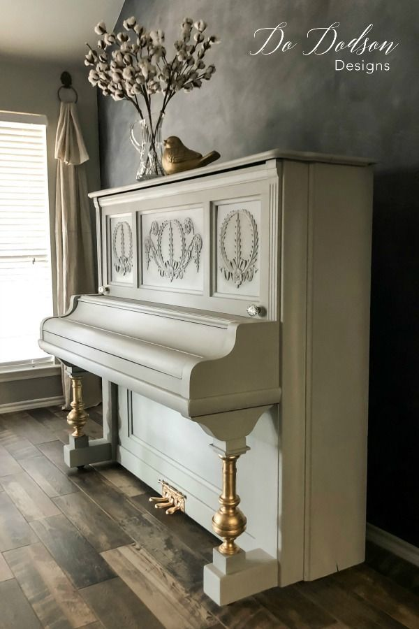 How To Paint A Piano In 1 Day Piano Decor Painted Pianos Painting Wooden Furniture