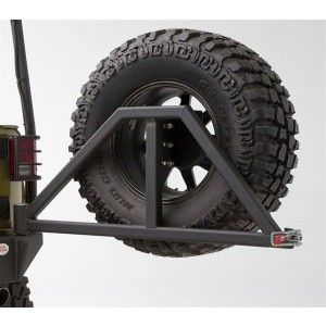 Body Armor Swing Arm Tire Carrier - Textured Black Powdercoat