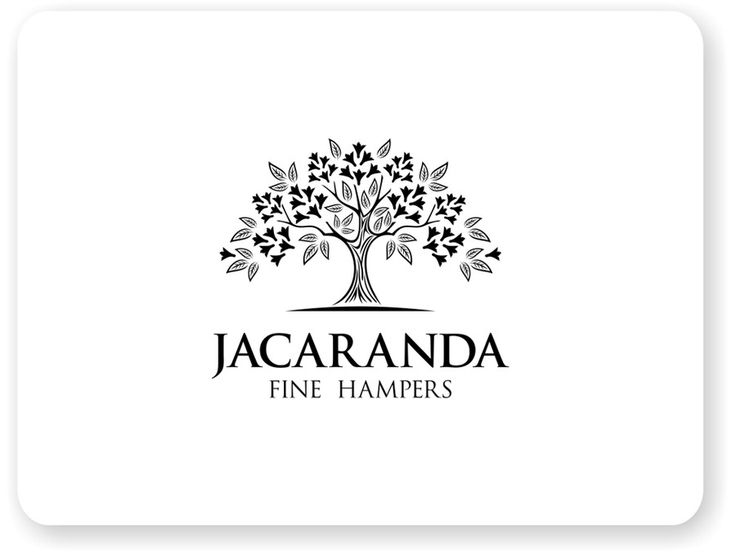 Create a capturing  Jacaranda tree fine sketch illustration for a food and wine hampers by blackhorse