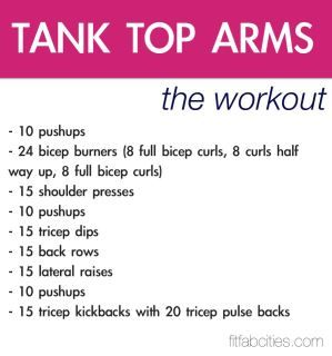 Tank Top Arms workout - dang that looks hard.. maybe should try this too