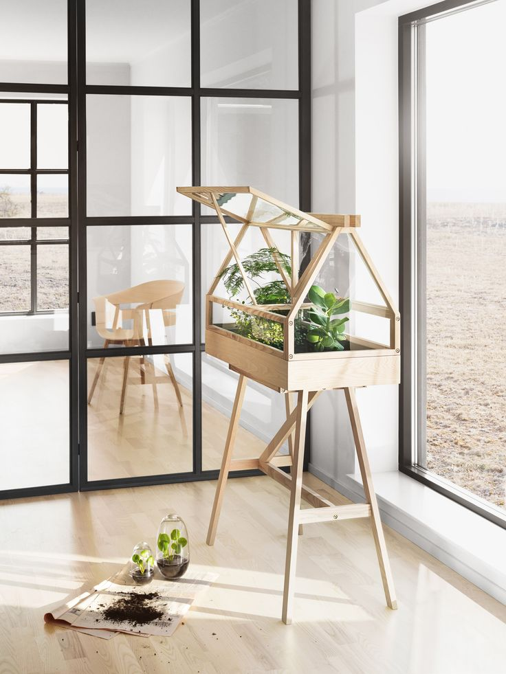 Atelier 2 designs miniature greenhouse for indoor