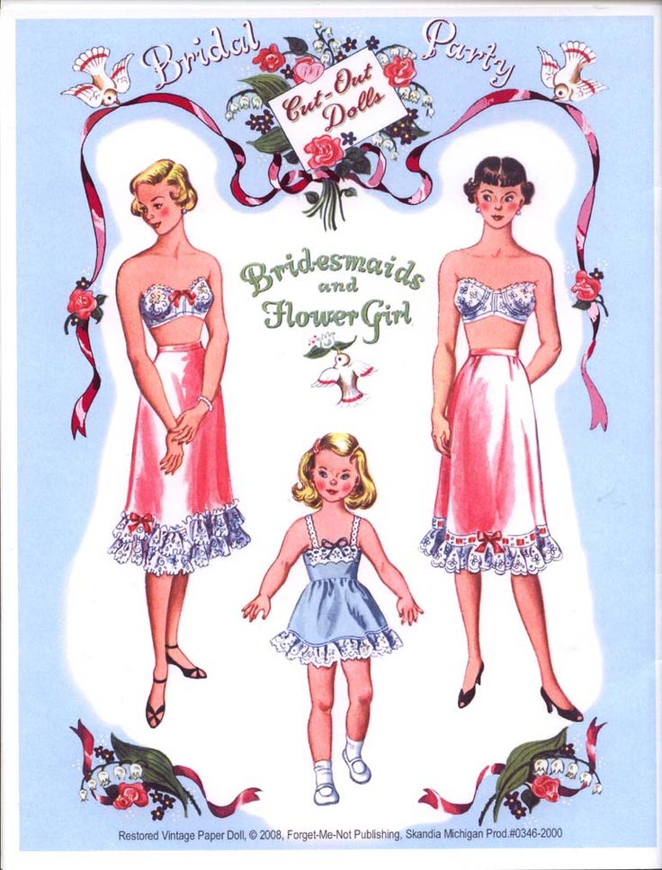 334 best Paper Dolls Brides images on Pinterest Vintage paper