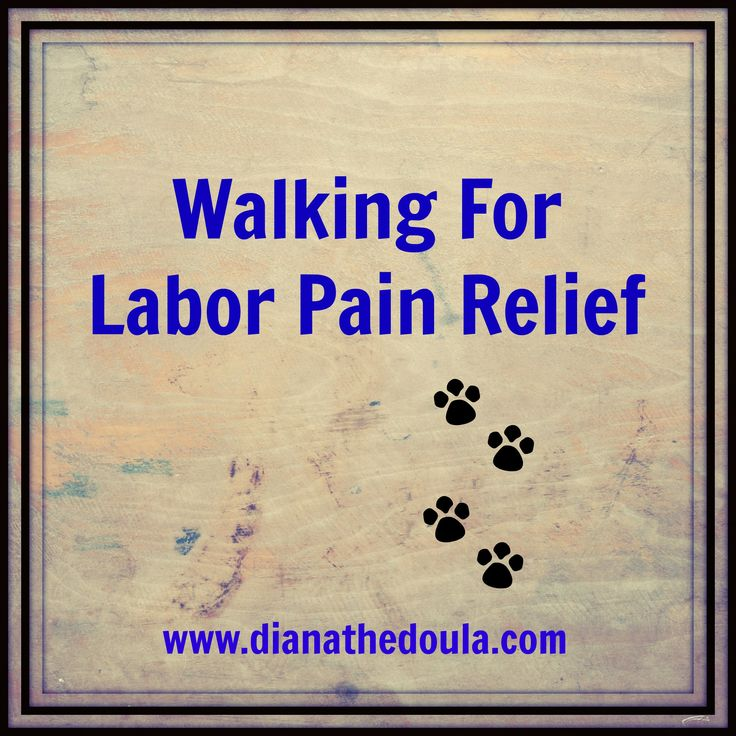 Walking is a well known technique for helping laboring women and their babies progress towards the birth.