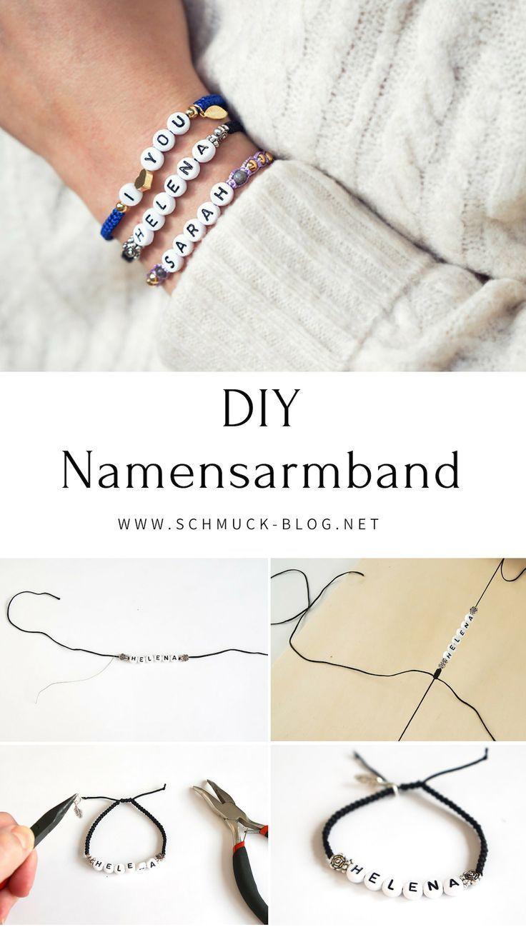 Diy Namensarmband Im Makramee Stil Armband Mit Namen