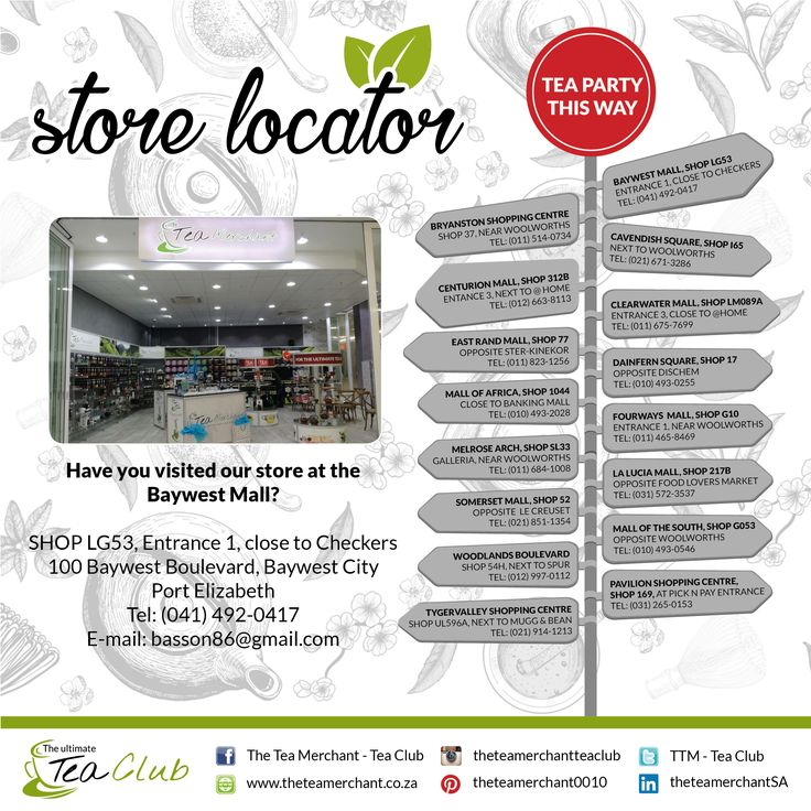 Did you know we have stores country wide? Please see which store is nearest to you for the ultimate tea experience. #baywestmall