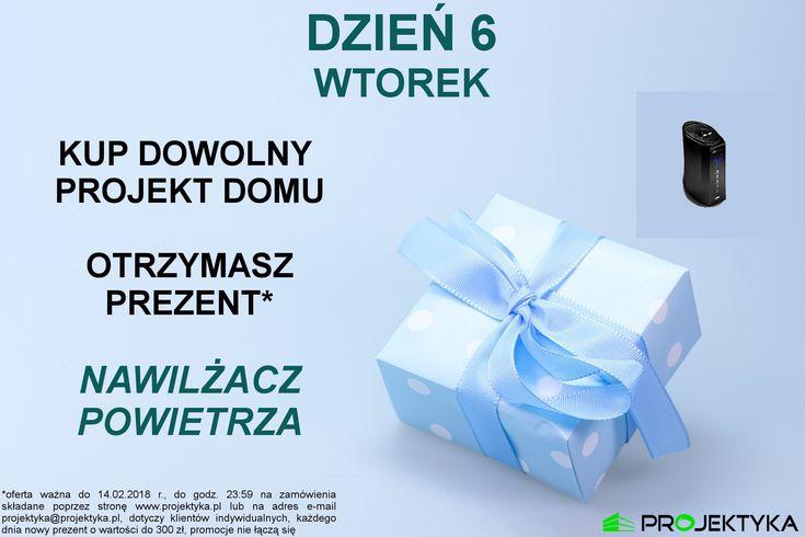 🗓️wtorek - łapcie okazję!🗓️ PROJEKT DOMU➕NAWILŻACZ POWIETRZA* ➡️ http://bit.ly/katalog-projektów ⬅️  😮JUŻ JUTRO KONIEC PROMOCJI😮  *oferta ważna do 14.02.2018 r., do godz. 23:59 na zamówienia składane poprzez stronę www.projektyka.pl lub na adres e-mail projektyka@projektyka.pl, dotyczy klientów indywidualnych, każdego dnia nowy prezent o wartości do 300 zł, promocje nie łączą się