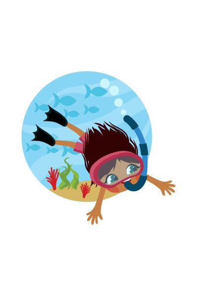 Kid Scuba Diving Vector Image #scubadiving #vector http://www.vectorvice.com/kids-activities-vector