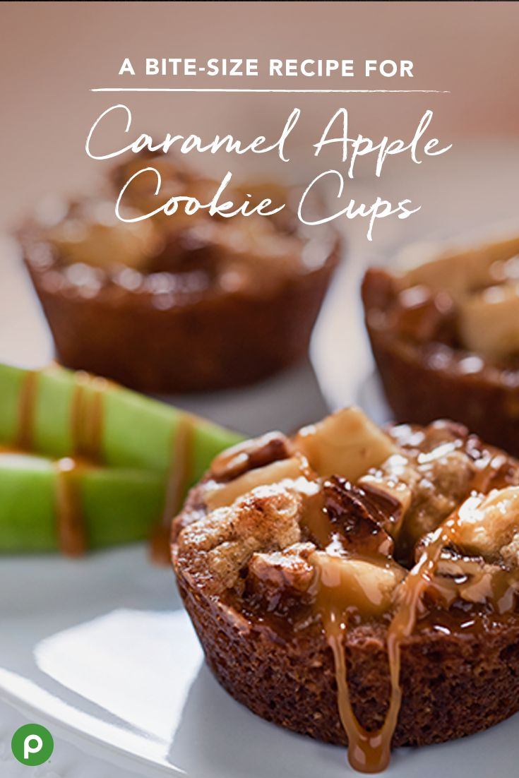 Who knew so much deliciousness could fit in a bite-size dessert? Make this recipe for Caramel Apple Cookie Cups for a sweet treat this Thanksgiving.