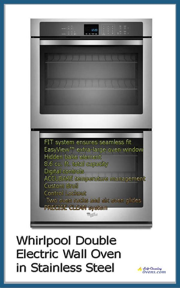 Whirlpool Wod51ec7as 27 In Double Wall Oven Self Cleaning Wall