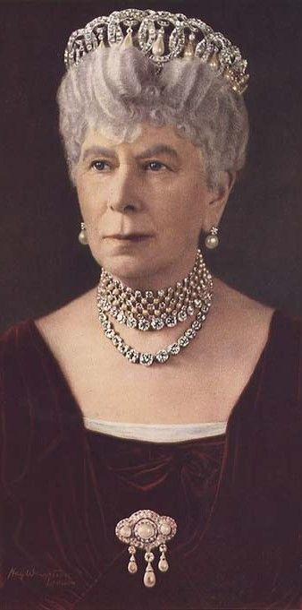 Mary of Teck was Queen consort of the United Kingdom and the British Dominions, and Empress consort of India, as the wife of King-Emperor George V.....on her 24th birthday she was engaged to prince albert but when he unexpectedly died of pneumonia 6 weeks later..a year after she became engaged to his younger brother George,,,