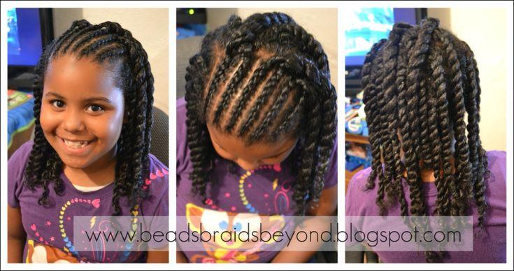 Contas, Tranças e mais além: Estilos de cabelo natural para as meninas: Cornrows & Twist Out - torções de Apartamentos torção Fora